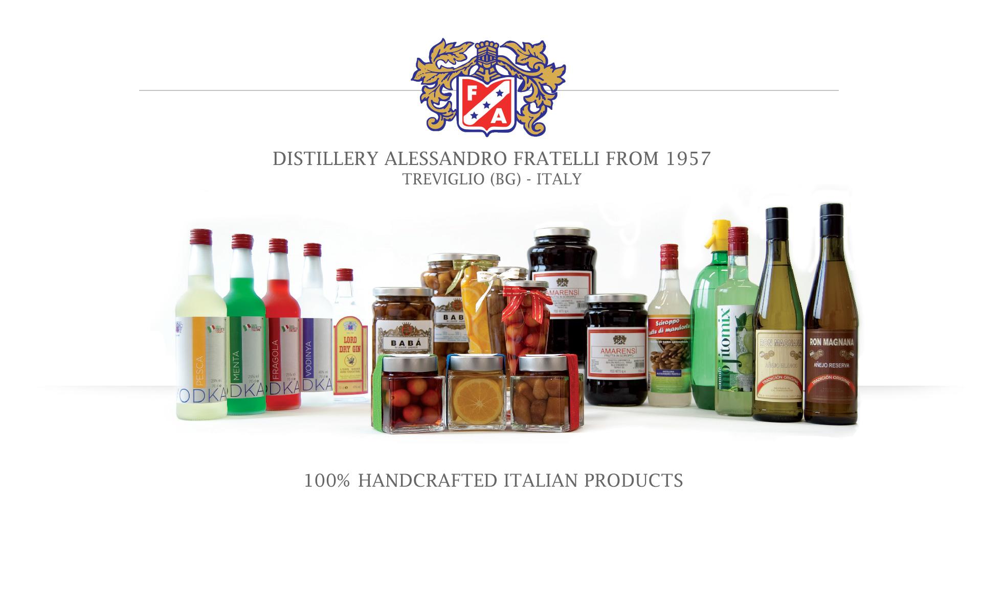 Distillery Fratelli Italy - Spirits, Cherries, Syrups